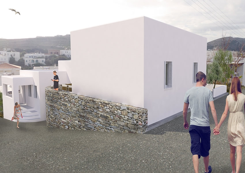 Two private residences in Paros island, Kyklades Greece