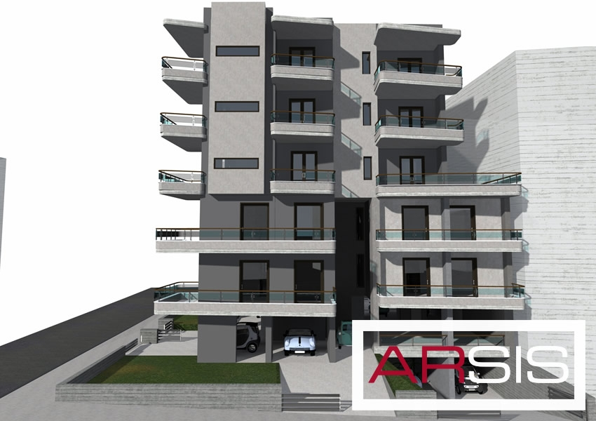 Under construction five-storey building, located in Ilioupoli Athens Greece